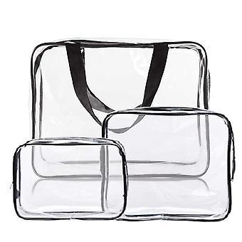 Priehľadná kozmetická taška, 3 ks