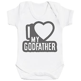 I Love My GodFather Black Outline Baby Bodysuit
