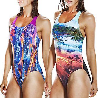 Speedo naisten POWERBACK allover uinti yksiosainen uimapuku uida puku