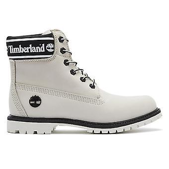 Timberland 6 tommers logo krage kvinner hvite støvler