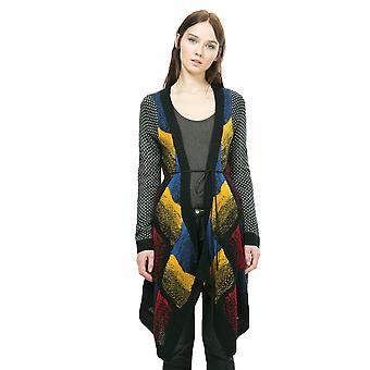 Desigual Women's Azul Oscuro Long Cardigan