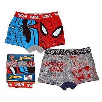 2-Pak Boxer underbukser Spider-Man-grå Spiderweb