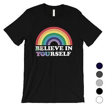 LGBT Be You Believe Rainbow Mens Camisa Regalo de Navidad