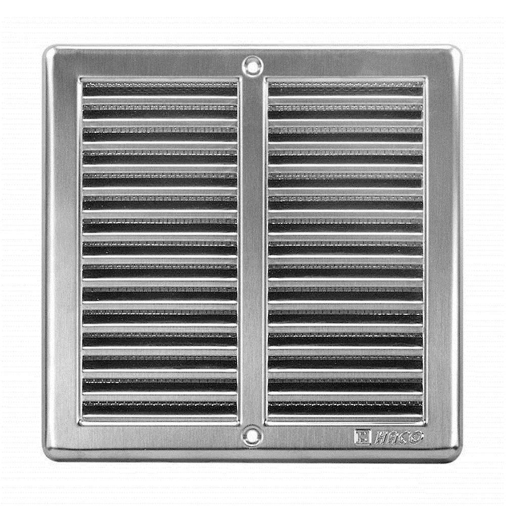 Brushed Stainless Steel Ventilation Grill 200 x 200 mm with Insect screen and Frame