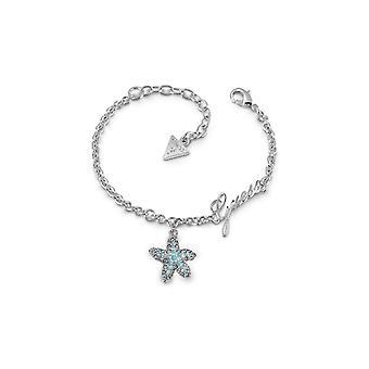 Bracelet Guess STARFISH UBB78000 - Bracelet acier cha�ne pampille �toile de mer bleue pav�e de cristaux Swarovski Femme