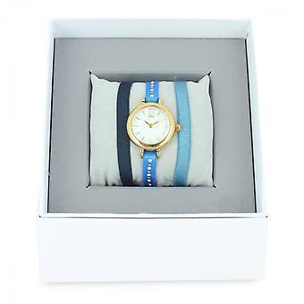 The Interchangeable Set A57144 - Ribbon Watch Bo tier Dor Yellow Women