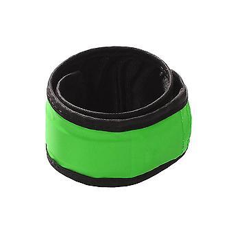 2x Safety Green Armband Reflective Flashing Belt Strap Cycling Walking Running