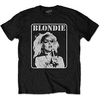 Blondie Debbie Harry Mic Pose 1 Parallel Lines T-Shirt officiel