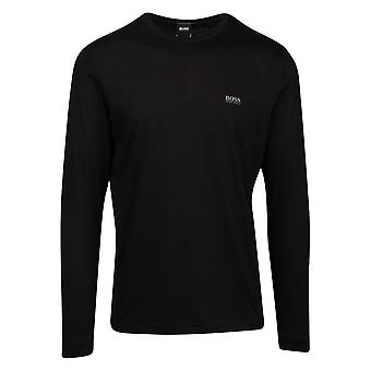 Hugo Boss Togn algodón negro camiseta de manga larga