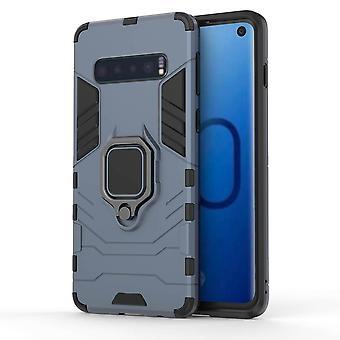 Für Samsung Galaxy S10 Fall, Marine blau Rüstung Ring Halter stoßfeste Telefon Abdeckung