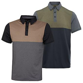Wolsey Mens Colour Block Quick Drying Lightweight Golf Polo Shirt