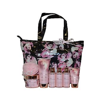 Baylis and Harding Boudoire Collection Weekend Bag with Shower Gel, Bath Milk, Body Wash +