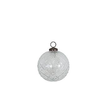 Light & Living Christmas Bauble 10cm Clear Glass Clear Rhomb