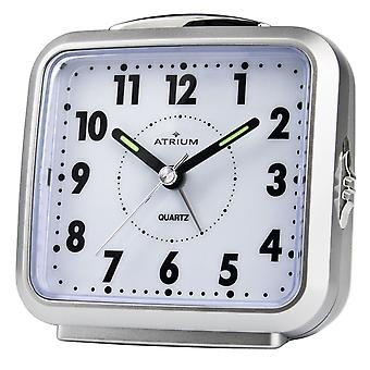 ATRIUM Alarm clock Analog quartz silver A250-19 without ticking with light and snooze