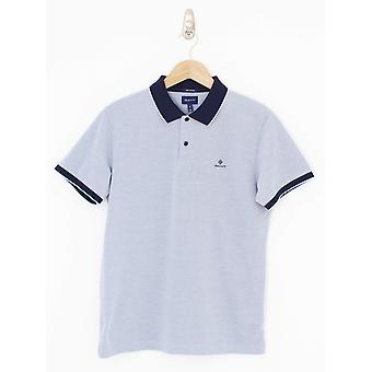 GANT Oxford Pique Rugger Polo - Lavender Blue