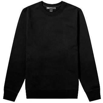 Y-3 Reverse Graphic Crew Sweatshirt Black