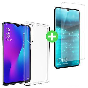 Stuff Certified® Huawei P30 Transparent TPU Case + Screen Protector Tempered Glass