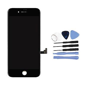 Stuff Certified® iPhone 8 Plus-näyttö (kosketus näyttö + LCD + osat) AA + laatu-musta + työkalut