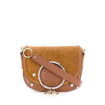 See By Chloé Chs19wsa29566242 Women's Brown Leather Shoulder Bag