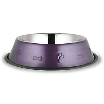 Gaun Inox 290 mm Trough. painted lilac (Cats , Bowls, Dispensers & Containers , Bowls)