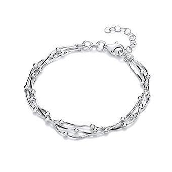 David Deyong Sterling Silver Dots Multi Chain Bracelet