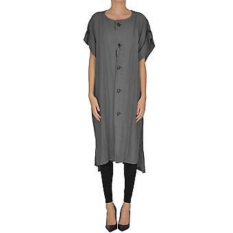Yohji Yamamoto Ezgl123008 Women's Grey Linen Dress