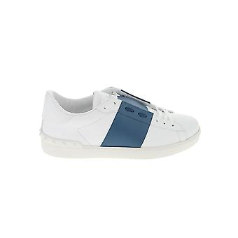 Valentino Garavani Ty0s0830blu31e Men's Wit/blauw Leren Sneakers