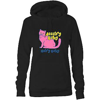 Womens Sweatshirts Hooded Hoodie- Haaairy Baby, Hairy Baby
