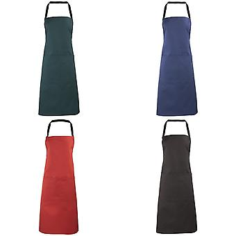 Premier Ladies/Womens Apron (with Pocket) / Workwear (Pack of 2)