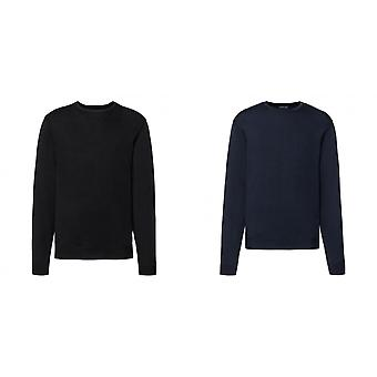 Russell collectie Mens bemanning hals gebreide Pullover Sweatshirt