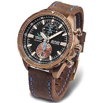 Vostok almaz space station Quartz Analog Man Watch with Cowskin Bracelet 6S11-320O266