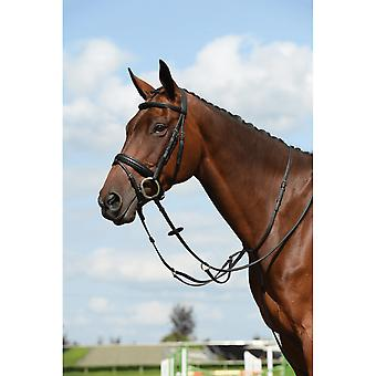Collegiate Syntovia+ Plain Flat Running Martingale - Zwart