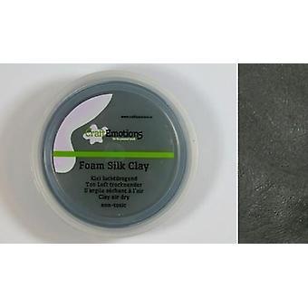 CraftEmotions Silk foam clay - black 28gr Air dry