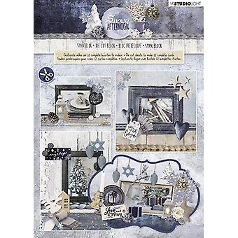 Studio Light Die cut blocs A4 12 sh Snowy Afternoon 84 STANSBLOKSA84
