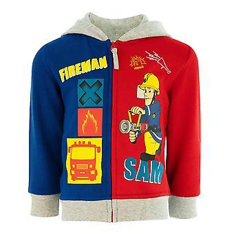 Fireman sam boys hoodie sweatjacket