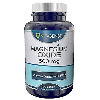 VitaSense Magnesium Oxide 500 Mg - Bowel Cleanse Detox Protein Synthesis PRO - 60 Tablets