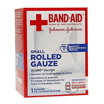 Band-aid rolled gauze, 2 inch x 2.5 yards, 1 ea