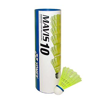 Yonex Mavis 10 Badminton Shuttlecocks Shuttles (Tube of 6) Yellow