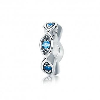 Sterling Silver Spacer Lucky Blue Eye - 5497