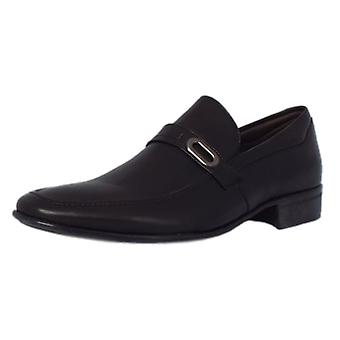 Anatomic & Co Sergipe Mens Slip On Shoes In Black Leather