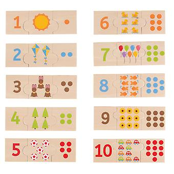 Bigjigs Toys Wooden Number Tiles Learn to Count Puzzle Early Learning Game