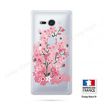Hull For Sony Xperia Xz2 Compact Soft Cherry Blossom Pattern