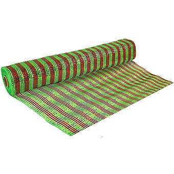 Christmas Stripe 53cm x 9.1m Deco Mesh Roll for Wreath Making, Floristry & Crafts