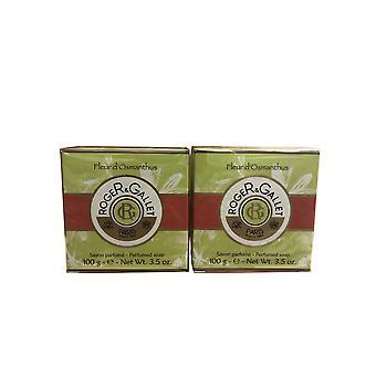 Roger & Gallet Fleur D'Osmanthus Travel Soap 3.5 OZ set of 2