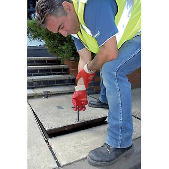 Draper 89721 2 x 130 mm Schacht/Abfluss Abdeckung anheben/Entfernung/Lifter Werkzeug Schlüssel