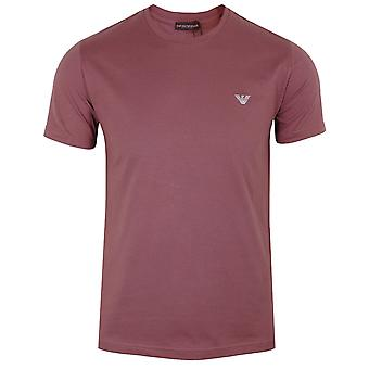 Emporio armani mænd's terracotta t-shirt