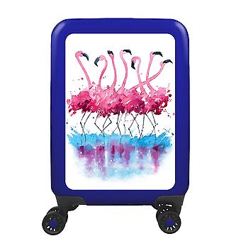 myTrolley Flamingo Aquarel S, 4 rollen, 55 cm, 32 L, Blauw