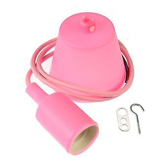 Jandei Hänge hänge bas, kabel och rosa Td hållare E27