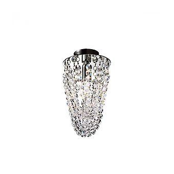 Design Spot In Crystal Cascade Chrome 1-lamp