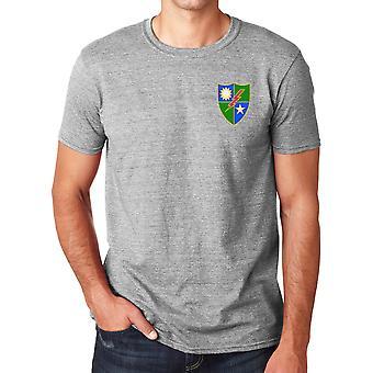US Army 75e Régiment de Rangers brodé Logo - coton Ringspun T Shirt